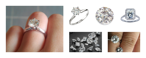 Moissanite and Diamonds