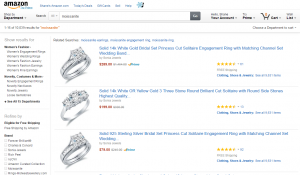 Moissanite on Amazon